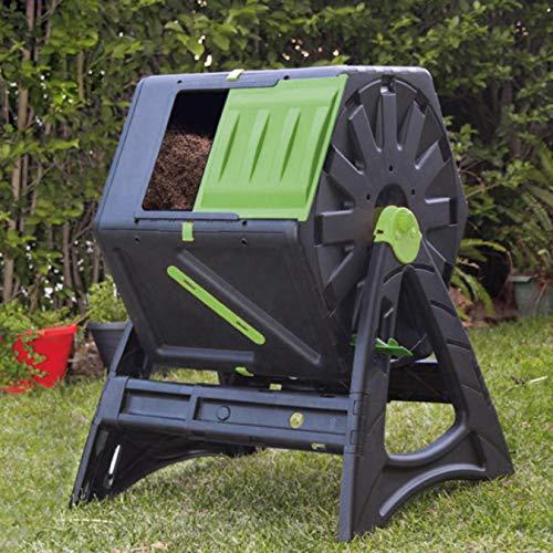 UPP - Compostiera a tamburo, 105 l, ventilazione interna, sicura contro i parassiti, compostiera rapida