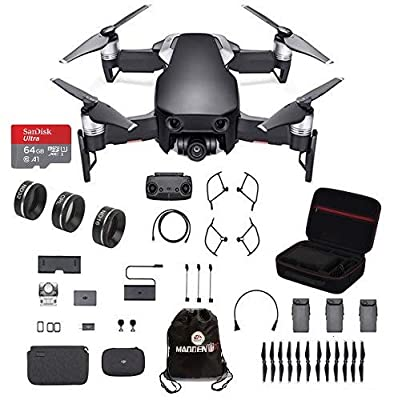 DJI Mavic Air Fly More Combo Travel Bundle with 3-Filter Set and Professional Case and More