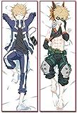 YOLEOLY - Funda de almohada para disfraz de anime, regalo de cosplay, My Hero Academia, GSH-515, Katsuki Bakugou con patrón de doble cara para decoración del hogar (120 x 40 cm Bakugou Katsuki)