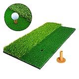 NAIZEA Golf Mats Golf Hitting Mats Practice Mats with Tee, Fairway & Rough