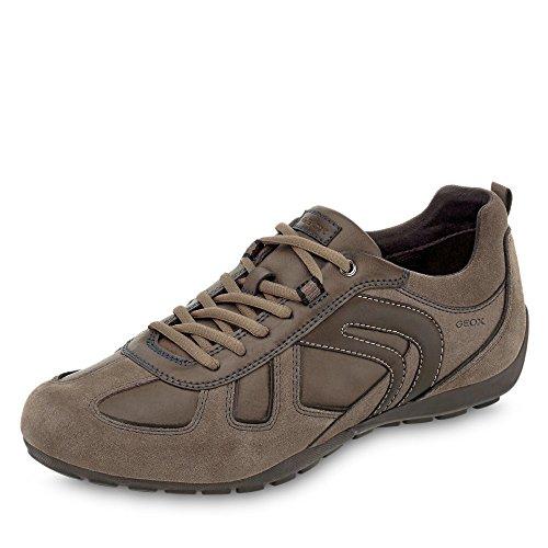 Geox U843FA Uomo Ravex Sportlicher Herren Sneaker, Schnürhalbschuh, Freizeitschuh, atmungsaktiv Grau (Dove Grey), EU 45