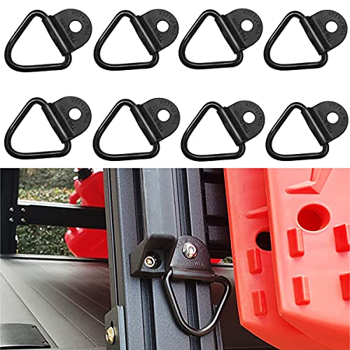 MOEBULB Cargo V-Ring Tie-Down Anchors Black Steel Bolton Trailer V-Ring Tie Down for Trailers Trucks and Warehouses Replacement for D-Ring Plastic Flush Mount Pan Fitting Tiedown 8-Pack