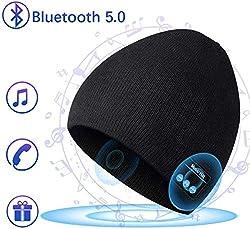 COTOP Bluetooth 5.0 Headphones Beanie Hat Men Winter Hat Knit Hat Warm Beanie Winter Hat Running hats for women and men