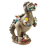 Dinosaurier Figuren Gartenzwerg Lustig Gartendeko Gartenzwerge Garten Deko Für Außen Gartenfiguren Für Haus und Garten, (L)
