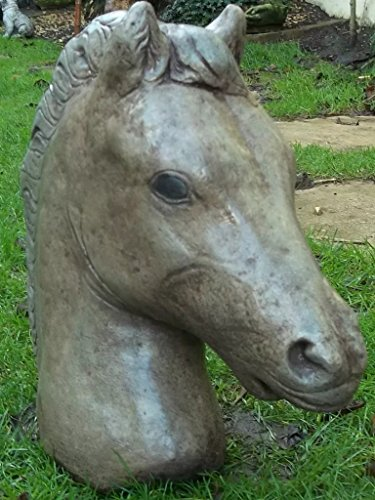LittleGems Busto de cabeza de caballo/adorno de caballo estatua/escultura–Garden & Home para regalo de Navidad
