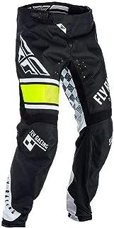 Fly Racing Pantalón Kinetic MTB/BMX, color blanco y negro, Pant Dirt Bike Dirt Jump Mountain Bike