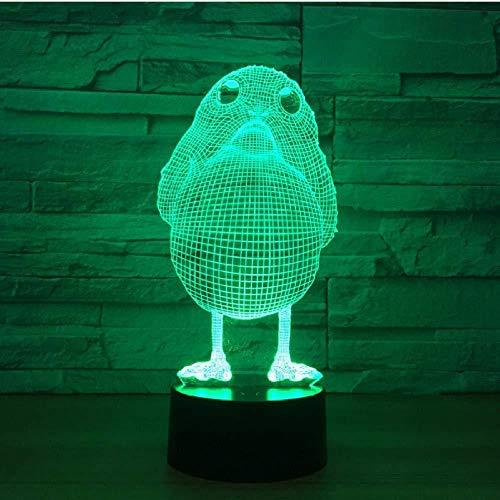 3D LED Illusionslampe mit 7 Farben LED Little Chick Birds Form Lampe als dekorative Lichter Lampe Kinder Geburtstagsgeschenk