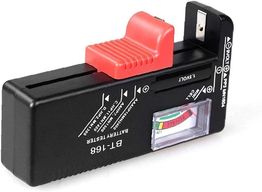 Battery Tester Volt Tester Checker for AA AAA Small Batteries Button Cell(No Batteries Required)