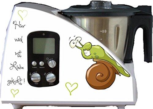 wodtke-werbetechnik Monsieur Cuisine Pegatinas para electrodoméstico, diseño de caracol