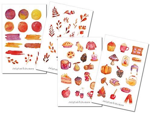 Herbst Sticker Set | Aufkleber | Journal Sticker | Planersticker | Sticker Blätter, Natur, Blumen, Pflanzen