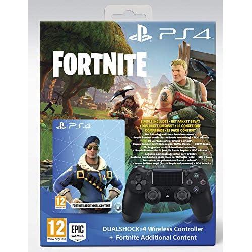PlayStation 4 - DS4 Black + Fortnite VCH [Bundle]