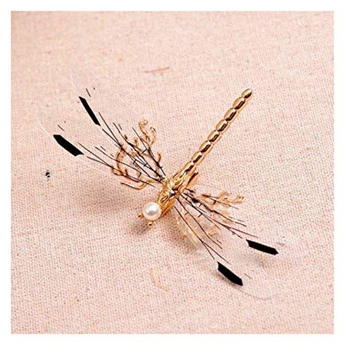 Yinyimei Haarspangen 1 STÜCK Charme Libelle Haarspange Perle Braut Kopfschmuck Gold Haarnadeln Hochzeit Schmuck Mädchen Geometrie Nette Haarspange (Color : 1)