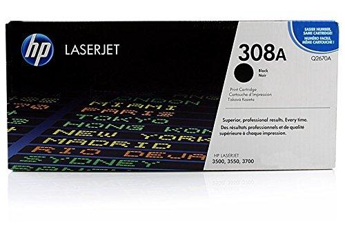 HP Q2670A / 308A - Cartucho de tinta original para impresora Color Laserjet 3550N (6000 páginas), color negro