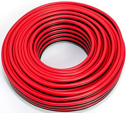 Lautsprecherkabel rot schwarz 2X 4,00mm² 25M Ring