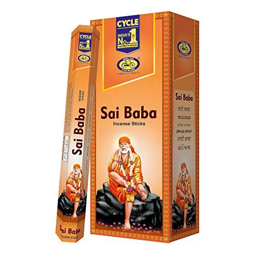 Cycle Sai Baba Incense Sticks (Agarbatti) - Pack of 120 Sticks