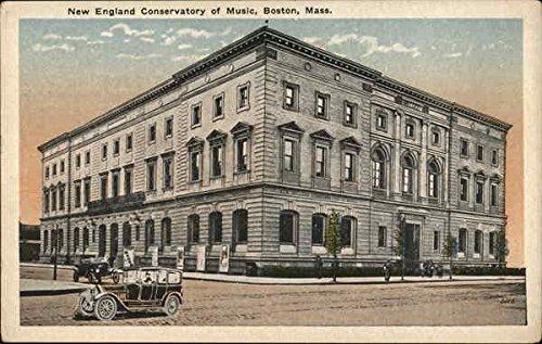New England Conservatory of Music Boston, Massachusetts MA Original Vintage Postcard