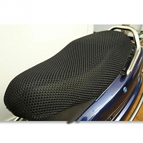 GEZICHTA 3D Motorrad Sitzkissen-Polster, 3D Elektro Bike Netz, Sitzbezug, Kühlschutz, langlebig, schwarz, xxxl 96x55cm