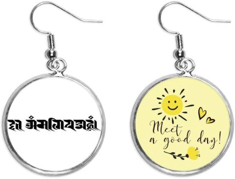 Customs Sanskrit Character Figure Pattern New Shipping Free famous Sun Ear Ea Flower Drop