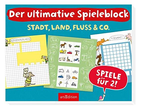 Ars Edition Der ultimative Spieleblock: Stadt, Land, Fluss & Co.