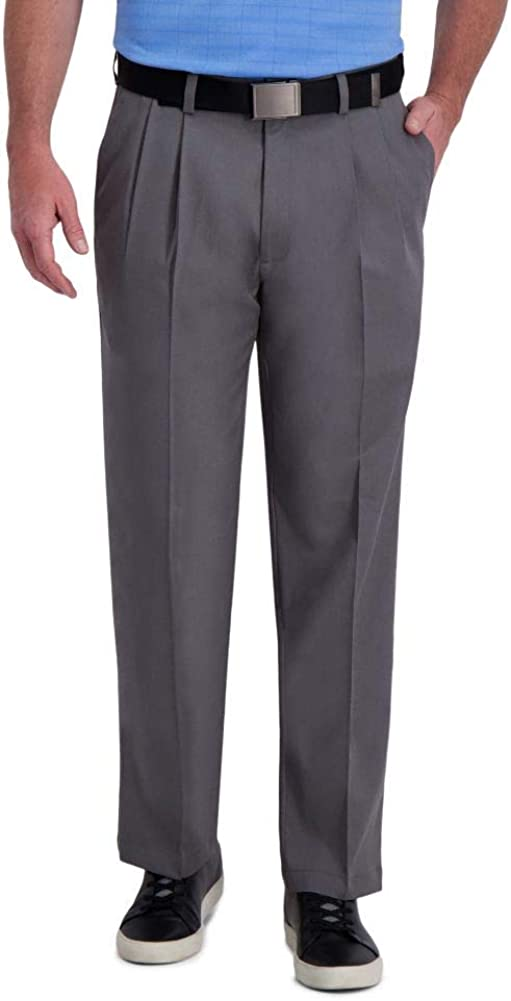 Outlet ☆ Free Shipping Haggar Men's Clearance SALE Limited time Cool Right Performance Classic Flex Pleat Solid Fit