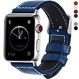 Fullmosa Compatible avec Bracelet Apple Watch 42mm(44mm Serie4) en Cuir Véritable, 7 Couleurs pour Bracelet Apple...