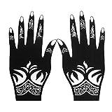 Wasserdichte temporäre Tattoos 4 teile / satz Professionelle Henna Schablone Temporäre Hand...