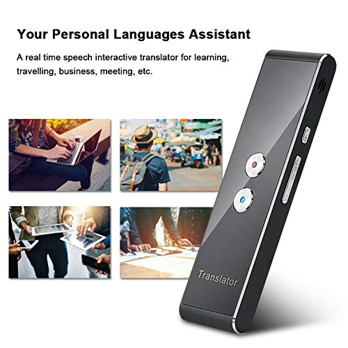 Smart Voice Translator Portable Intelligent Two-Way Real time Speech Translator Bluetooth 2.4G Interpreter Support 30+ Languages Translation, for Learning Travelling Business and Meeting (Black) Photo #7