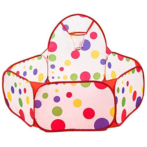 WEIHEEE Pezón de pelota para niños, tienda de campaña para juegos en interiores y exteriores, piscina con aro de baloncesto (bolas no incluidas).