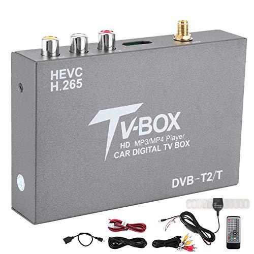Receptor de caja de TV digital para coche KIMISS DVB-T2 / T Standrad H.265 6M / 7M / 8M Ancho de banda de canal PAL/NTSC Sistema de vídeo