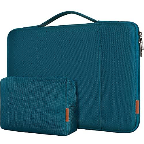 DOMISO Funda Portatil 14 Pulgadas,Maletín de Ordenador Impermeable Compatible con 15 Zoll MacBook Pro/14 Acer Swift 3/HP Chromebook 14 Pavilion x360/lenovo ThinkPad X1 Carbon,Turquesa