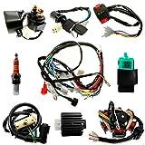 Complete Electrics Stator Coil set Quad Wire Harness Electrics Stator Coil CDI Wiring Harness For GY6 50cc 70cc 90cc 110cc 125cc ATV Quad Pit Dirt Bike Buggy Go Kart