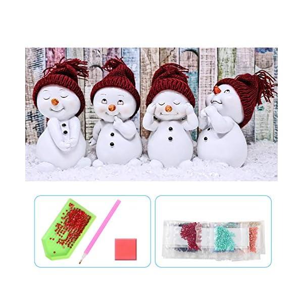 UPINS-5D-DIY-20-x12-Inch-Christmas-Snowman-Full-Drill-Rhinestone-Diamond-Art-Painting-Kits-for-Adult