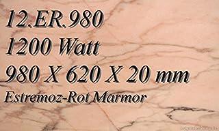 Calefacción por infrarrojos–Calefactor de infrarrojos eléctrico (mármol Magma Calefacción 1200W 12. ER.980