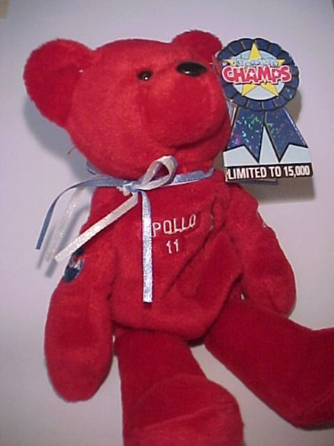 Treasure Champs Apollo 11 30 Year Anniversay 1969-1999 1st Generation Liftoff rot Bear Limited to 15,000 by Liftoff