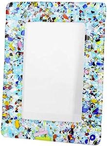 Original Murano Glass OMG Marco de fotos de color fantasía – cristal azul claro pequeño – 20 x 15 cm 7,9 x 5,9 cm