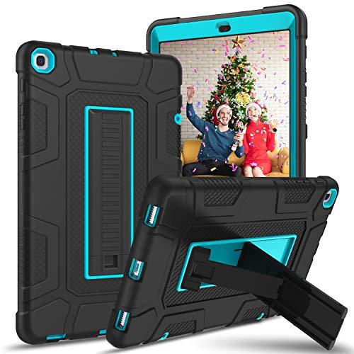 YINLAI Galaxy Tab A 10.1 Funda 2019 T510 / T515 / T517 Bumper Bumper de alto rendimiento para tres capas para Samsung Galaxy Tab A 10.1 pulgadas 2019 Tablet SM-T510 SM-T515 SM-T517 Negro / Azul