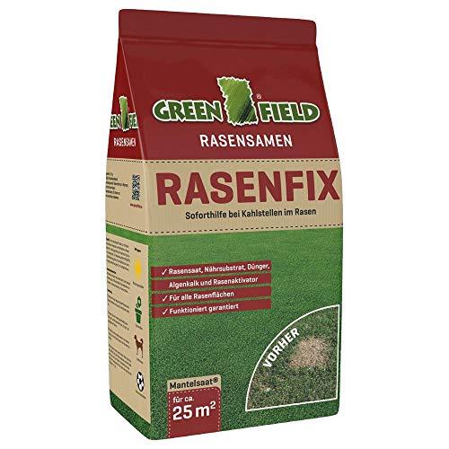 Greenfield Rasenfix 1,5 kg Pelouse Graines Docteur Aide D'Urgence en Cas de Instantanée avec Taches Chauves 10 M²