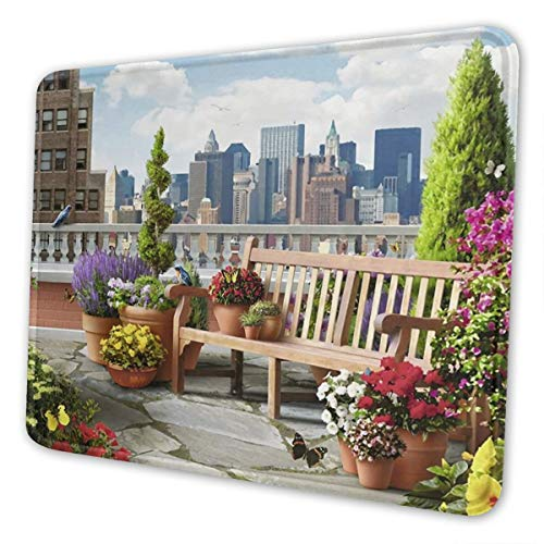 Rooftop Garden Multi-Size Gaming Mouse Pads for Adults and Children are Suitable for Office, Gaming, and Learning 10 X 12 Inch
