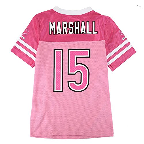 Brandon Marshall NFL Chicago Bears Mid Tier Fashion Jersey Girls Youth (L/10-12) Pink