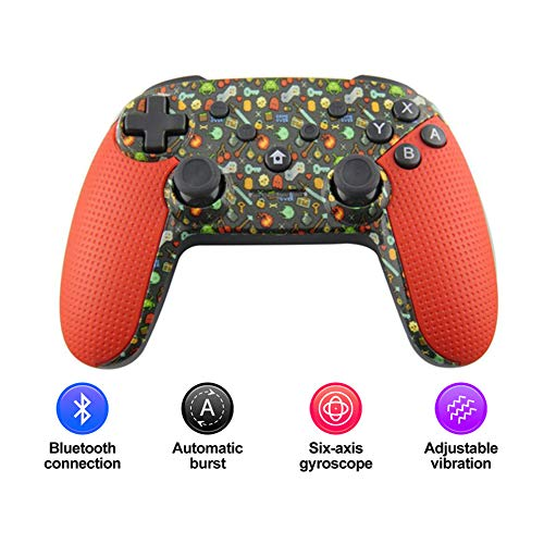 Radiancy Inc Bluetooth Gamepad, Wireless Bluetooth Game Controller Gamepad Joystick Wireless Game-Controller für Switch/PC / PS3 / Android,Rot