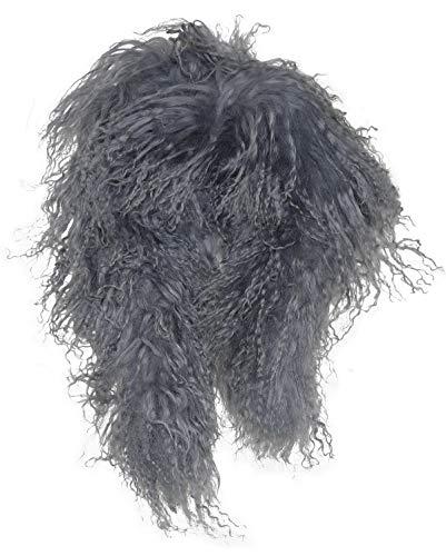 Harrys-Collection Schal aus Tibetlamm, Farben:grau, Größen:Einheitsgröße