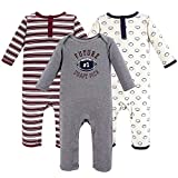 Hudson Baby baby girls Cotton Coveralls Layette Set, Football, 12-18 Months US
