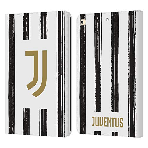 Official Juventus Football Club Home 2020/21 Match Kit Leather Book Wallet Case Cover Compatible For Apple iPad 9.7 2017 / iPad 9.7 2018