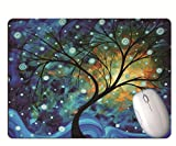 Gaming Mouse Pad, Creative Fantasy World, Abstract Tree, Wear-Resistant Rubber, Office Notebook Gaming Mouse Pad
