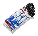 edding 3000-001 - Marcador permanente, 10 unidades, color negro