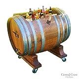 Central Coast Creations 60 Gallon Wine Barrel Ice Chest - Wine Barrel Handcrafted Wine Barrel Furniture