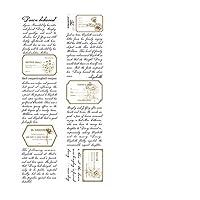マスキングテープ 透明硫酸紙 ヴィンテージの花と葉、言葉、標本、太陽と月 カラフル 手帳 アルバム スクラップブッキング DIY ギフト かわいい シール インテリア 飾り 手帳テープ (6点) (マナーマインド(zhuangyuanxinshi))