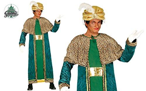 Guirca- Baldassarre Costume da Re Magio per Adulto, Verde, L, 42402