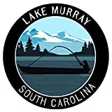Bass Fishing Lake Murray South Carolina Vinyl Printed Die-Cut Decorative Auto Decal Sticker Appliques ~ Lake Life Outdoor Series