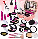 STAY GENT Maquillaje Niñas Set para Chicas, Fake Maquillaje Kit con para Cosmético Bolsa para Niño Papel Toca, Chica Juguetes Regalo para Cumpleaños, Navidad, Rosa